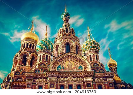 Church Of The Savior On Spilled Blood In St. Petersbur