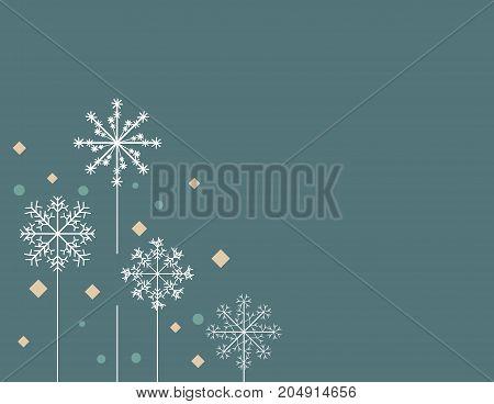 Vector snowalkers background. Clean winer banner template