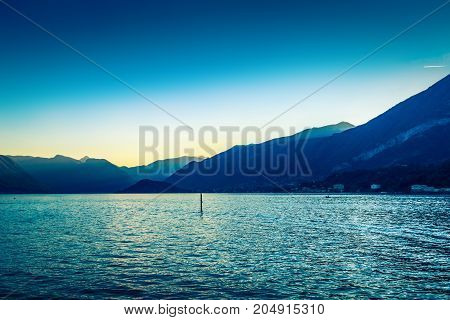 Beautiful Alpine Mountains And Como Lake