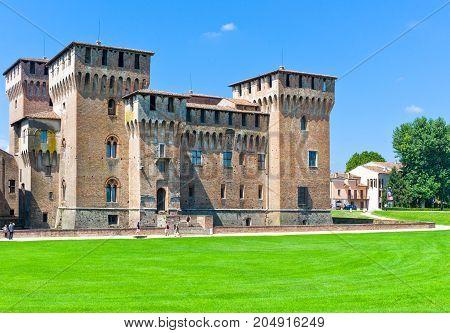 Mantova Italy - July 31 2011: The San Giorgio castle