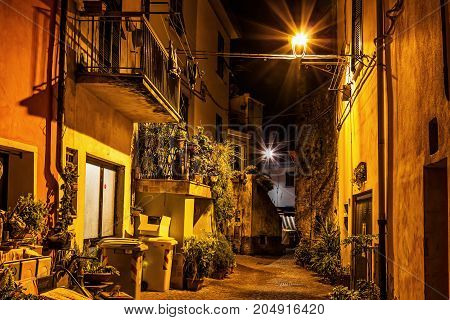 Ancient Street In The Night