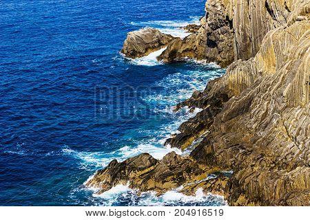 Rocky coast and the sea. Landscape. Seascape