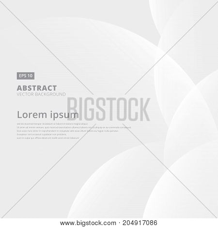 Abstract geometric white and gray with space modern design on Light gray background vector illustration