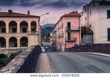 Street In Old Pontremoli Village