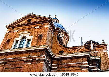 Dome Of The Basilica Of Reggio Emilia Cathedral