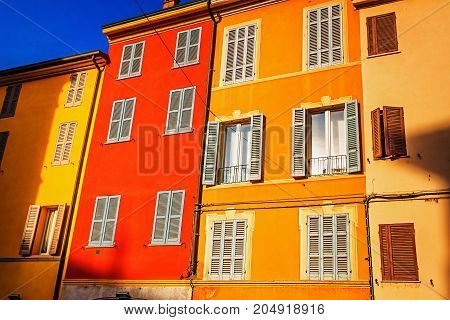 Old Colored Houses In Parm