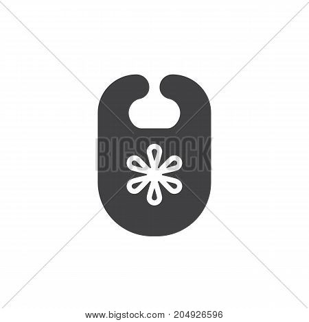 Bib icon vector, filled flat sign, solid pictogram isolated on white. Symbol, logo illustration