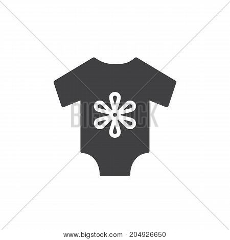 Baby's loose jacket icon vector, filled flat sign, solid pictogram isolated on white. Symbol, logo illustration