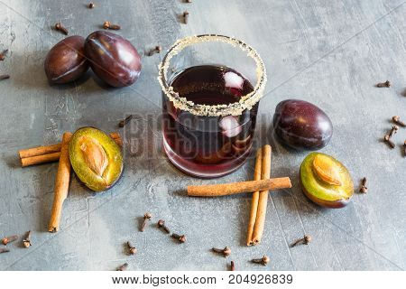 delicious juice made from fresh plums, cinnamon and cloves. In the summer, it will cool down in the winter