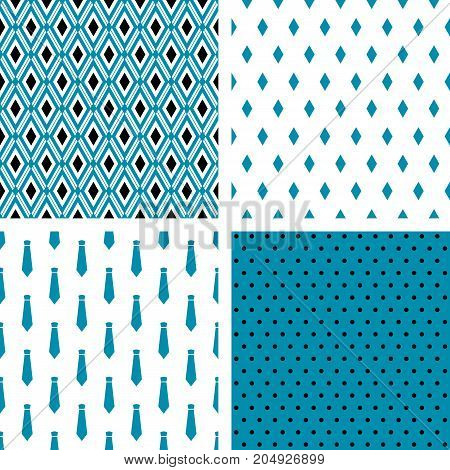 Set of vector seamless male patterns. Wrapping paper, wallpaper, fashion print design