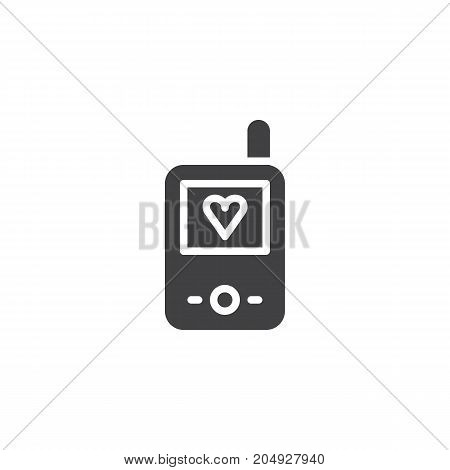 Baby walkie talkie icon vector, filled flat sign, solid pictogram isolated on white. Symbol, logo illustration