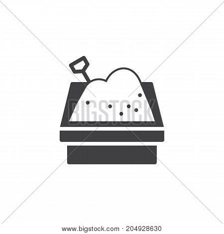Sandbox icon vector, filled flat sign, solid pictogram isolated on white. Symbol, logo illustration