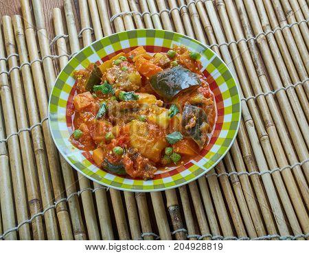 Baingan Aaloo Ki Subji - Eggplant Potato brinjal dish