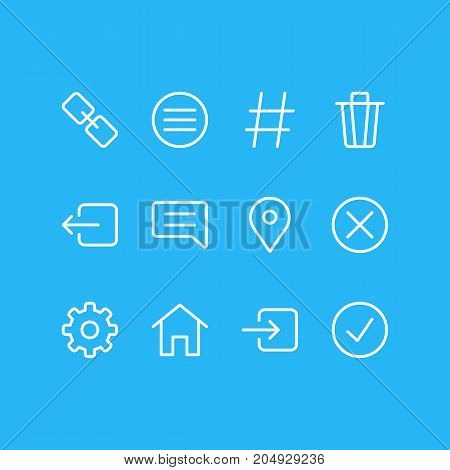 Editable Pack Of Locked, Done, Note And Other Elements.  Vector Illustration Of 12 Annex Icons.