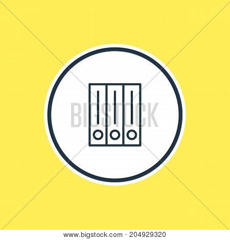 Beautiful Stationery Element Also Can Be Used As Archive Element.  Vector Illustration Of Library Outline.