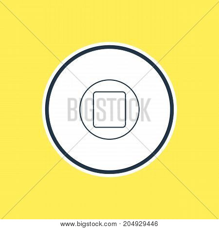Beautiful Melody Element Also Can Be Used As Pause Element.  Vector Illustration Of Stop Outline.