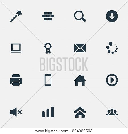 Elements Home Pin, Team, Play And Other Synonyms Champion, Bricks And Stick.  Vector Illustration Set Of Simple Design Icons.