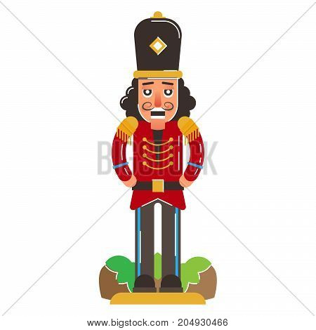 Nutcracker wood carvings of a soldier figure from 15th century. Good luck symbol.