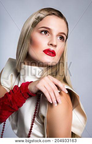 Portrait Of A Beautiful Retro Model
