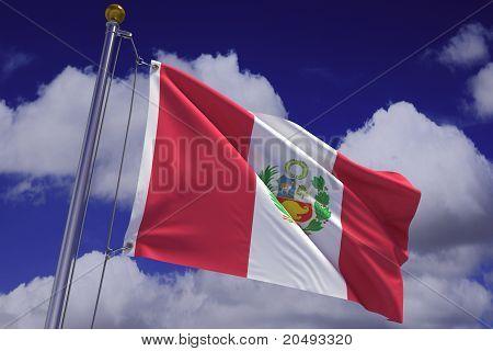 Waving Peruvian Flag