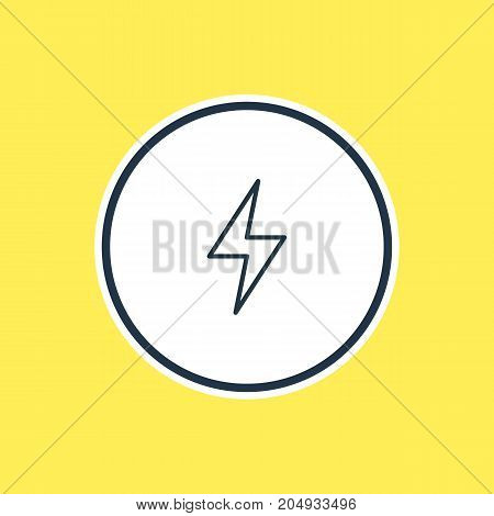 Beautiful Weather Element Also Can Be Used As Lightning Element.  Vector Illustration Of Storm Outline.