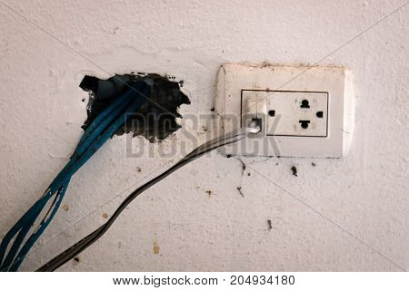 Old electric plug make it dangerous to use.