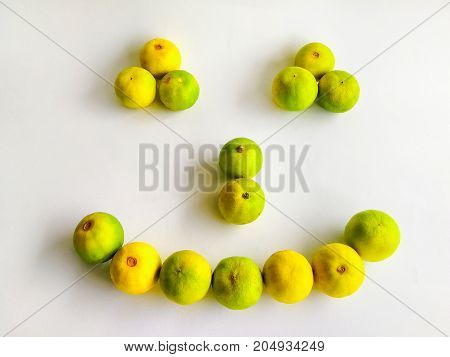 Green lemon isolated background - Lemon and Half of lemon citrus fruit with isolated on white background Closeup shoot Select focus