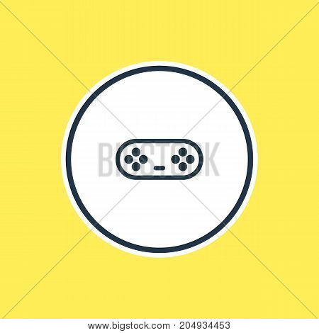 Beautiful Entertainment Element Also Can Be Used As Joystick Element.  Vector Illustration Of Game Controller Outline.