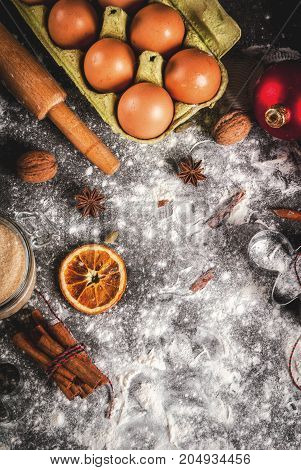 Christmas Cooking Baking Background