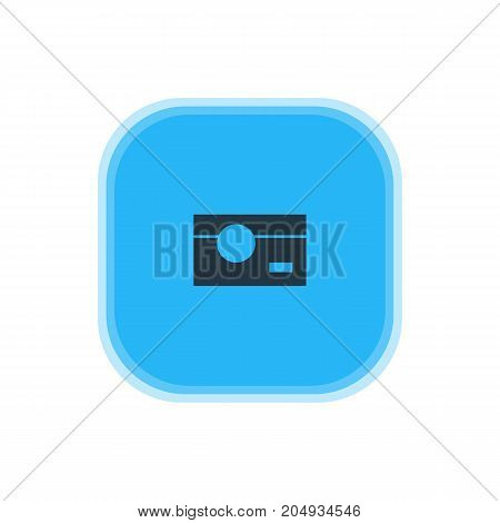 Beautiful Internet Element Also Can Be Used As Capture Element.  Vector Illustration Of Camera Icon.