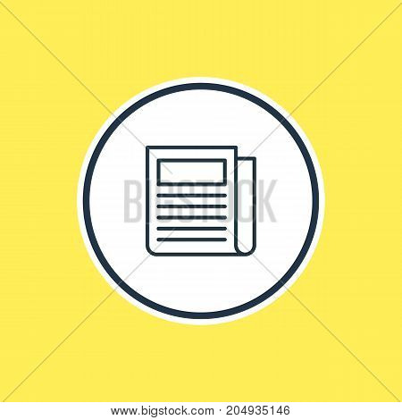 Beautiful Marketing Element Also Can Be Used As Daily Press Element.  Vector Illustration Of Newspaper Outline.