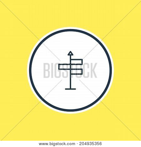 Beautiful Summer Element Also Can Be Used As Guide  Element.  Vector Illustration Of Navigation Outline.