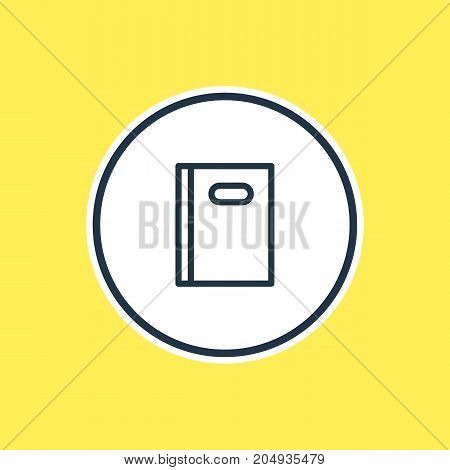 Beautiful Leisure Element Also Can Be Used As Copybook Element.  Vector Illustration Of Book Outline.