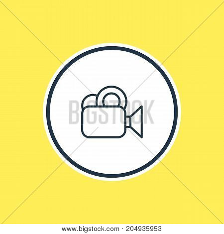 Beautiful Movie Element Also Can Be Used As Camera Element.  Vector Illustration Of Video Outline.