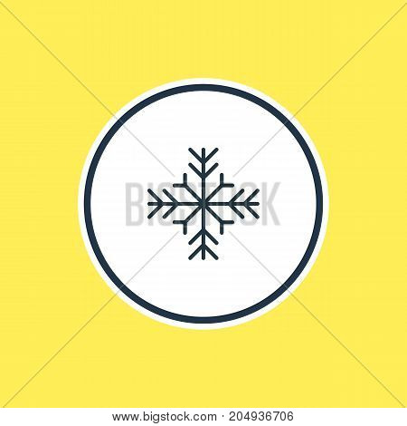 Atmosphere Element Also Can Be Used As Snow  Element.  Vector Illustration Of Snowflake Outline.