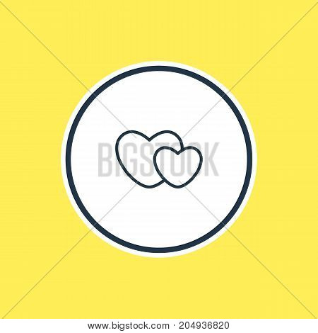 Amour Element Also Can Be Used As Hearts  Element.  Vector Illustration Of Soul Outline.