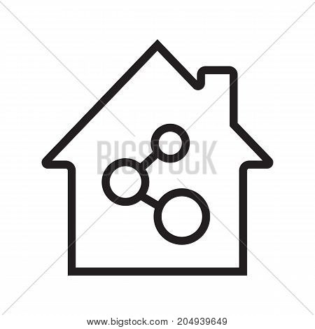 Home network connection linear icon. Thin line illustration. Internet providing. Contour symbol. Vector isolated outline drawing