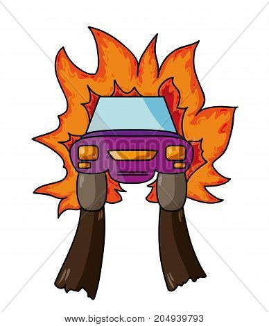 Car With Flames