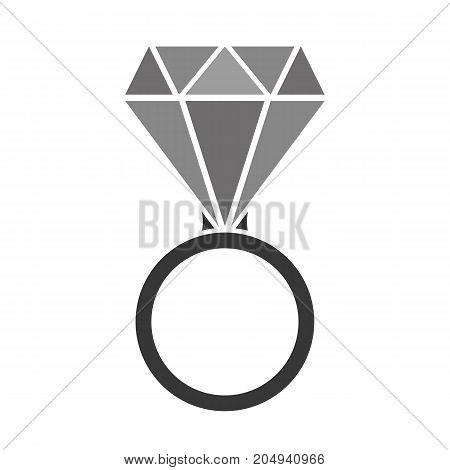 Diamond Ring With Shades Of Gray