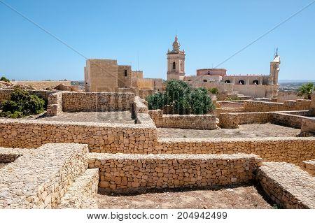 Medieval citadel on the island of Gozo Malta