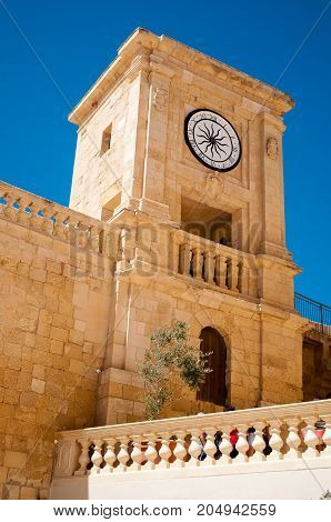 Tower in the medieval citadel of Gozo