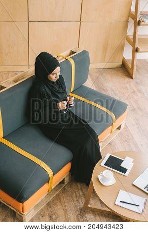 Muslim Woman With Prayer Beads