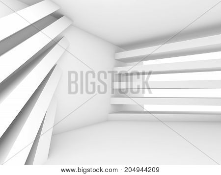 Abstract Empty 3D Background. White Room