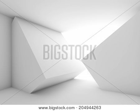 Abstract Empty Room Interior With Bright Window