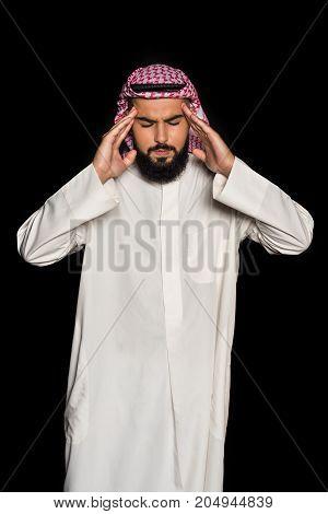 Muslim Man With Headache