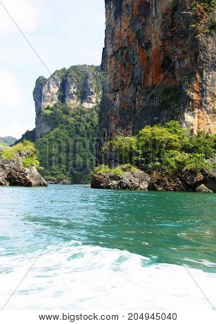 Tropical trip near the green rocks, Krabi