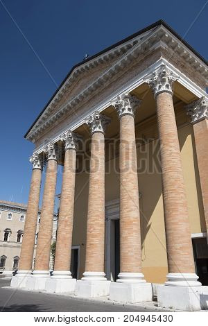 Forli (Emilia Romagna Italy): exterior of the historic cathedral