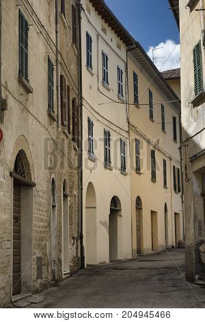 Modigliana (Forli Cesena Emilia Romagna Italy):old typical street