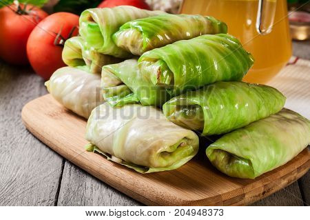 Stuffed Cabbage Prepared For Cooking