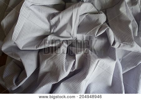 Jammed Light Gray Classic Chequered Cotton Textile